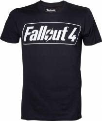 Tricou cu logo Fallout 4 Negru L Gaming Items