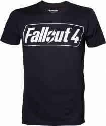 Tricou cu logo Fallout 4 Negru XL Gaming Items