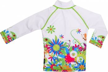 Tricou de baie Flowers marimea 110- 116 protectie UV Swimpy Jucarii de exterior