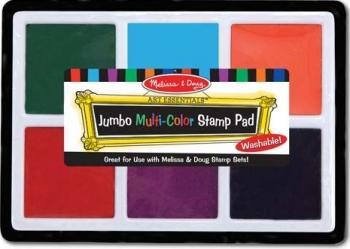 Tusiera jumbo cu cerneala nontoxica Melissa and Doug 6 culori