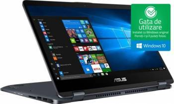pret preturi Ultrabook 2in1 Asus Transformer TP410UA Intel Core Kaby Lake R (8th Gen) i5-8250U 500GB HDD+128GB SSD 4GB Win10 FullHD