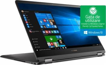 Ultrabook 2in1 Asus ZenBook Flip S UX370UA Intel Core Kaby Lake i7-7500U 256GB 8GB Win10 FullHD Smoke Grey Fingerprint laptop laptopuri