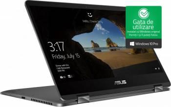 pret preturi Ultrabook 2in1 Asus ZenBook Flip 14 Intel Core Kaby Lake R (8th Gen) i7-8550U 512GB 8GB Win10 Pro FullHD Tastatura ilum.