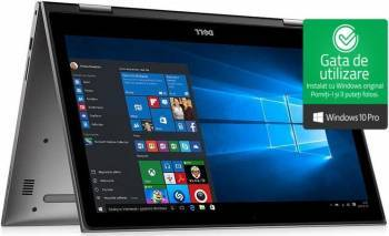 Ultrabook 2in1 Dell Inspiron 5379 Intel Core Kaby Lake R (8th Gen) i7-8550U 256GB SSD 8GB FullHD Win10 Pro Tast. ilum. Laptop laptopuri