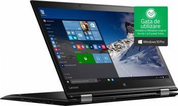 Ultrabook 2in1 Lenovo ThinkPad X1 Yoga Intel Core Kaby Lake i5-7200U 256GB SSD 8GB WQHD Win10 Pro Laptop laptopuri