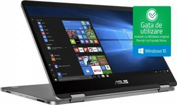 Ultrabook Asus Transformer Book TP401NA Intel Pentium N4200 64GB 4GB Win10 WXGA Light Grey Laptop laptopuri