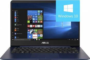 Ultrabook Asus ZenBook UX430UA Intel Core Kaby Lake i7-7500U 512GB 8GB Win10 FullHD Blue Metal Laptop laptopuri