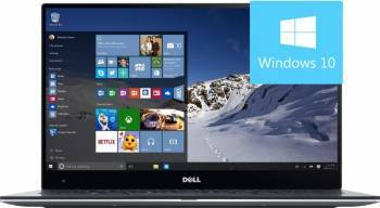 Ultrabook Dell XPS 9360 Intel Core Kaby Lake i5-7200U 256GB 8GB Win10 QHD+ Silver Laptop laptopuri