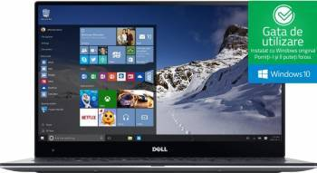 Ultrabook Dell XPS 9360 Intel Core Kaby Lake i5-7200U 256GB SSD 8GB FullHD Win10 Tastatura iluminata Laptop laptopuri