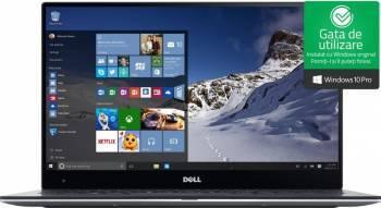 Ultrabook Dell XPS 9360 Intel Core Kaby Lake i5-7300U 256GB SSD 8GB QHD Win10 Pro Tastatura iluminata Laptop laptopuri