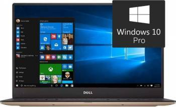 Ultrabook Dell XPS 9360 Intel Core Kaby Lake i7-7500U 256GB 8GB Win10 Pro QHD+ Laptop laptopuri
