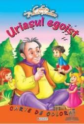 Uriasul egoist - Carte de colorat - Poveste si culoare
