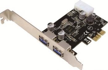 Adaptor Logilink PCI-Express x1 la 2 x USB 3.0 Adaptoare