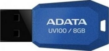 USB Flash Drive ADATA UV100 Slim Bevelled 8GB Blue