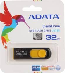 USB Flash Drive ADATA DashDrive UV128 32GB USB 3.0 Negru-Galben