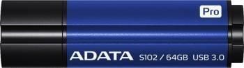 USB Flash Drive ADATA S102 Pro 64GB USB 3.0 Albastru USB Flash Drive