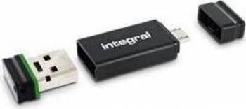 USB Flash Drive Integral Fusion 4GB USB 2.0 + Adaptor USB OTG USB Flash Drive
