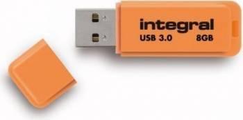 USB Flash Drive Integral Neon 8GB Portocaliu