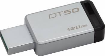 USB Flash Drive Kingston 128GB DataTraveler 50 USB 3.1 Metal-Negru