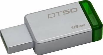 USB Flash Drive Kingston 16GB DataTraveler 50 USB 3.1 Metal-Verde USB Flash Drive