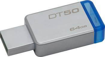 USB Flash Drive Kingston 64GB DataTraveler 50 USB 3.1 Metal-Albastru USB Flash Drive