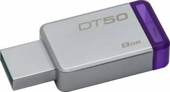 USB Flash Drive Kingston 8GB DataTraveler 50 USB 3.1 Metal-Violet USB Flash Drive