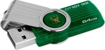 USB Flash Drive Kingston DataTraveler 101 64 GB Gen2 Verde
