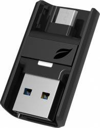 USB Flash Drive Leef Bridge Dual OTG 32GB USB 3.0 Negru