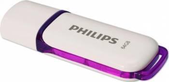 Usb Flash Drive Philips USB 2.0 64GB Snow Edition Violet