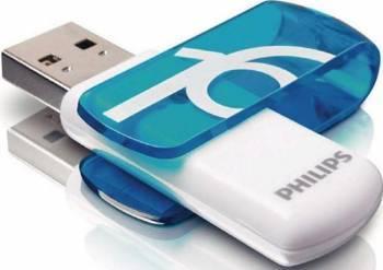 USB Flash Drive Philips Vivid 16 GB USB 2.0 Albastru