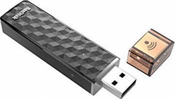 USB Flash Drive SanDisk 128GB USB 2.0 + Connect Wireless Negru
