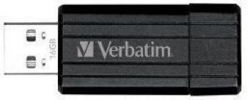 USB Flash Drive Verbatim PinStripe 16GB Black