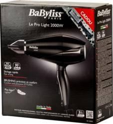 Uscator de par BaByliss 2000W 3 viteze 3 trepte de temperatura 6604E + Perie BaByliss 791971