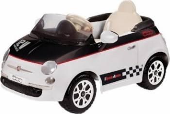 Vehicul copii Peg Perego Fiat 500 12V WhiteBlack Masinute si vehicule pentru copii