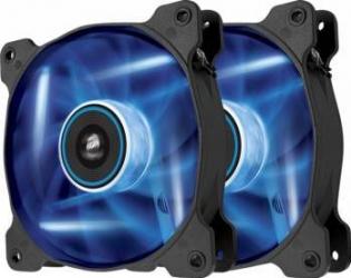 Ventilator Carcasa Corsair Air Series SP120 Blue LED 120mm Pachet Dublu Ventilatoare Carcasa
