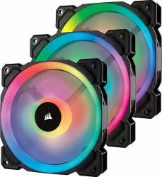 Ventilator Carcasa Corsair LL120 RGB LED Static Pressure 120mm PWM 3buc ventilatoare carcasa