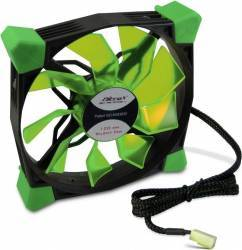 Ventilator Carcasa Inter-Tech CobaNitrox Xtended N-120-G Green LED Ventilatoare Carcasa