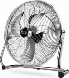 Ventilator de podea Taurus Sirocco 18 120W 50cm Debit aer 97,54 mc/min 3 viteze palete metalice Argintiu Ventilatoare