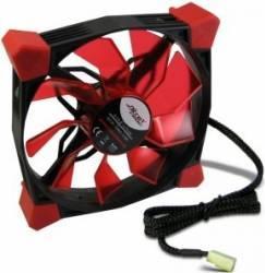 Ventilator Inter-Tech CobaNitrox Extended N-120-G 120mm Red LED Ventilatoare Carcasa