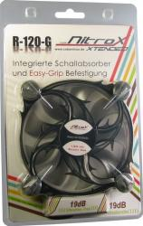 Ventilator Inter-Tech CobaNitrox Extended R-120-G 120mm Grey LED Ventilatoare Carcasa