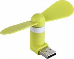 Ventilator Mini Portabil Benks USB Verde Accesorii Diverse Telefoane