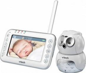 Videofon Digital Bufnita camera rotativa Vtech BM4600, Alb Monitorizare bebelusi