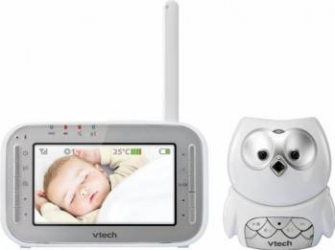 Videofon Digital Bufnita Vtech BM4300, Alb Monitorizare bebelusi