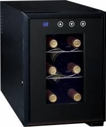 Vitrina frigorifica pentru vinuri Ardes Clasa A+ 6 sticle 70W Neagra Frigidere Combine Frigorifice