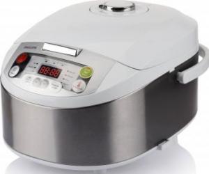 Multicooker Philips HD3037/70, 980 W, 5 l, Programe automate, Timer, Alb/Argintiu  Multicooker