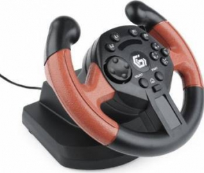 Volan cu pedale Gembird USB vibrating (PC/PS3) Gamepad & Joystick
