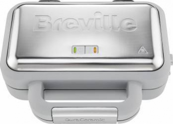 Waffle Maker Breville Duraceramic VST072X-01 850W White-Silver Aparate speciale de gatit
