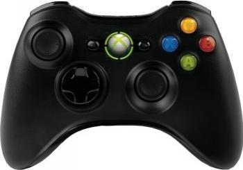Gamepad Wireless Xbox 360 si PC Black Gamepad & Joystick