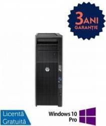 Workstation Refurbished HP Z620 2 x E5-2620 32GB 1TB 240GB SSD nVidia Quadro 2000 Win 10 Pro Calculatoare Refurbished