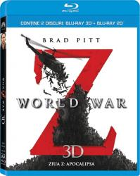 WORLD WAR Z BluRay COMBO 2D+3D 2012 Filme BluRay 3D